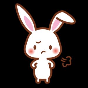 ムスッとするウサギ